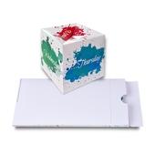 Pop-Up Cube Mailing mit Aufreißverpackung