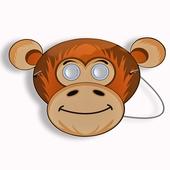Gesichtsmaske - Schimpansenmaske