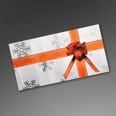 Weihnachtliche Mailmappe mit Rückantwortkarte