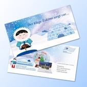 Design-Großpostkarte - Karte mit Türchen (Iglu)