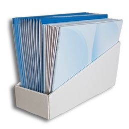 Stehsammler aus Wellpappe - Druckerei Lindner steht für: Ordner bedrucken, Ringordner bedrucken, Ringbücher bedrucken, Firmenordner bedrucken
