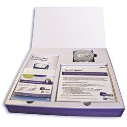 Geschenkbox / Geschenkverpackung - Druckerei Lindner steht für: Ordner bedrucken, Ringordner bedrucken, Ringbücher bedrucken, Firmenordner bedrucken