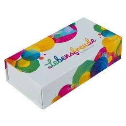 Produktpräsentationsbox mit Spiegelfolie - Druckerei Lindner steht für: Ordner bedrucken, Ringordner bedrucken, Ringbücher bedrucken, Firmenordner bedrucken