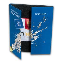 Box mit Magnetverschluss und Schaumstoffeinlage - Druckerei Lindner steht für: Ordner bedrucken, Ringordner bedrucken, Ringbücher bedrucken, Firmenordner bedrucken