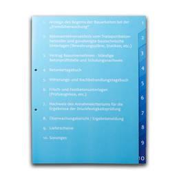 Ordner - Register 10-fach mit abgeschrägten Taben - Druckerei Lindner steht für: Ordner bedrucken, Ringordner bedrucken, Ringbücher bedrucken, Firmenordner bedrucken