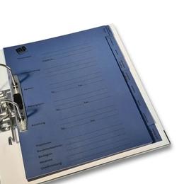Ordner - Register mit Unterregister - Druckerei Lindner steht für: Ordner bedrucken, Ringordner bedrucken, Ringbücher bedrucken, Firmenordner bedrucken