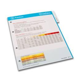 Ordner - Unter-Register für Ringordner - Preisliste - Druckerei Lindner steht für: Ordner bedrucken, Ringordner bedrucken, Ringbücher bedrucken, Firmenordner bedrucken