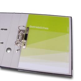 Ordner - 3-fach Register - Druckerei Lindner steht für: Ordner bedrucken, Ringordner bedrucken, Ringbücher bedrucken, Firmenordner bedrucken