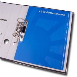 Ordner - Register 7-fach gerundet - Druckerei Lindner steht für: Ordner bedrucken, Ringordner bedrucken, Ringbücher bedrucken, Firmenordner bedrucken