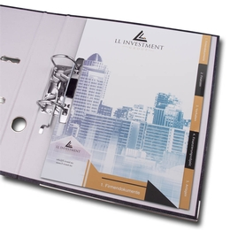 Ordner - Register 5-fach - Individuell bedruckte Ordner direkt vom Hersteller