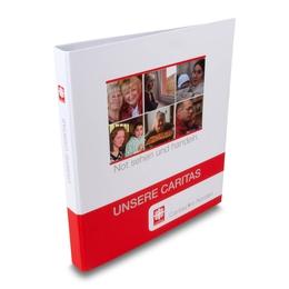Caritas Ordner  - Firmenordner, Ringbücher, Ringmappen individuell bedrucken lassen