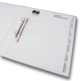 Ordner - Register für Möbelhäuser - Ordnerproduktion im Hause Lindner