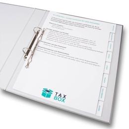 Ordner - Register für Steuerberater - Ordnerproduktion im Hause Lindner