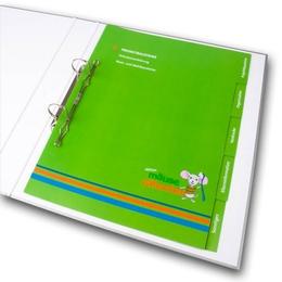 Ordner - Register für Kinderzahnarzt - Ordnerproduktion im Hause Lindner