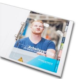Ordner - Register für neue Mitarbeiter - Ordnerproduktion im Hause Lindner