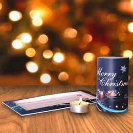 Weihnachtskarte mit Teelichtleuchte - Ordner drucken bei Lindner