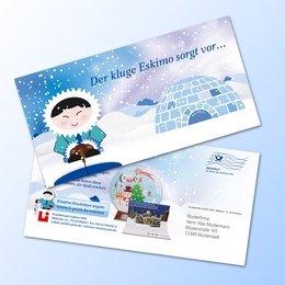 Maxi-Postkarte mit aufklappbarem Iglu (Wintermailing) - Ordner drucken bei Lindner