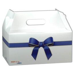Geschenkverpackung - Giebelbox - Druckerei Lindner steht für: Ordner bedrucken, Ringordner bedrucken, Ringbücher bedrucken, Firmenordner bedrucken