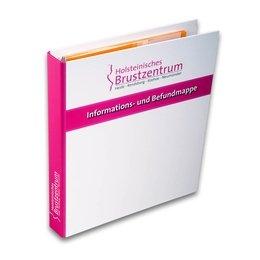 Gesundheitsordner - Druckerei Lindner steht für: Ordner bedrucken, Ringordner bedrucken, Ringbücher bedrucken, Firmenordner bedrucken