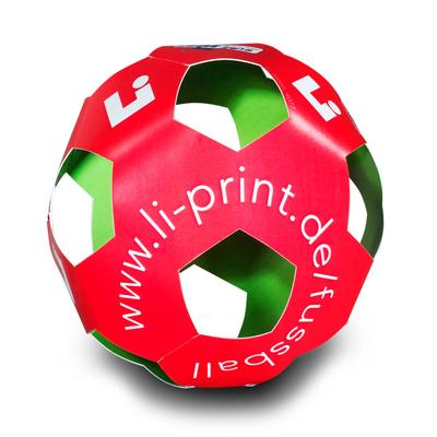 3D Fussball als A3 Bogen - Kreative Drucksachen - prägnant, wirksam, emotional