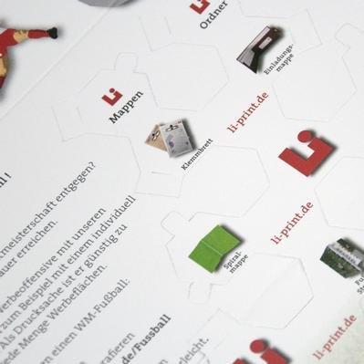 Fussball Mailing - Kreative Drucksachen - prägnant, wirksam, emotional