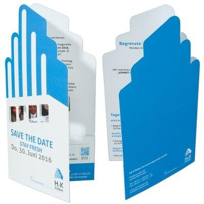 Einladungskarte Save the Date  - Kreative Drucksachen - prägnant, wirksam, emotional