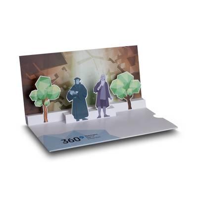 3D Pop-up Karte DIN lang mit Einschubtasche - Lindner steht für Beratung - Kreation - Veredelung - Druck - Konfektionierung