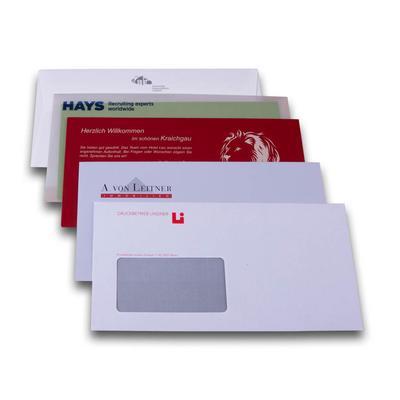 Bedruckte Briefhüllen / Briefumschläge - Kreative Drucksachen - prägnant, wirksam, emotional