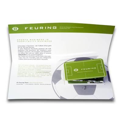 Klappkarte mit Mini-Faltplaner - Kreative Drucksachen - prägnant, wirksam, emotional