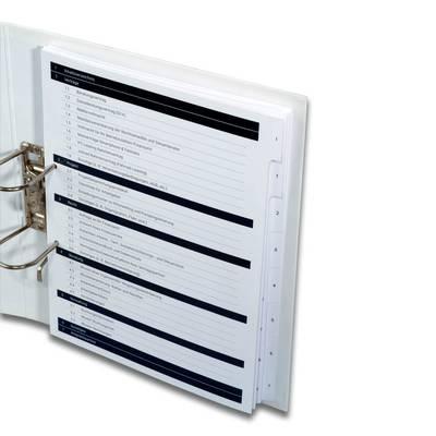7-fach Register mit Unterregister - Kreative Drucksachen - prägnant, wirksam, emotional