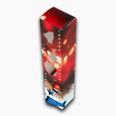 Adventskalender mit Schokoladentäfelchen - Individuelle Kreativprodukte beim Hersteller drucken lassen