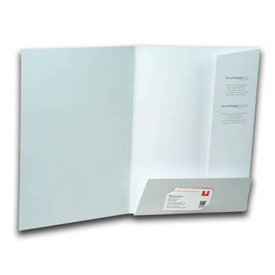 Weiße Stecklaschen Mappe