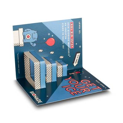 3D Pop-up Karte DIN A6 - gedoppelt - Kreative Drucksachen - prägnant, wirksam, emotional