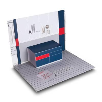 3D Pop-up Karte A5  - Lindner steht für Beratung - Kreation - Veredelung - Druck - Konfektionierung