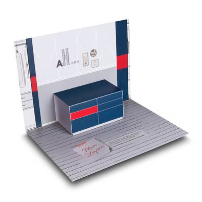 3D Pop-up Karte A5  - Kreative Drucksachen - prägnant, wirksam, emotional