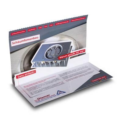 3D Mailing DIN lang mit Safetyverschluss - Lindner steht für Beratung - Kreation - Veredelung - Druck - Konfektionierung