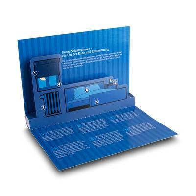3D Pop-up Karte DIN A5  - Lindner steht für Beratung - Kreation - Veredelung - Druck - Konfektionierung