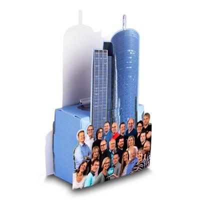 Stiftebox mit Wunschstanzung - Druckerei Lindner steht für: Kreative Drucksachen drucken, 3D -Pop-ups drucken,  Effektkarten drucken, Magic-Flyer drucken,Aufsteller drucken