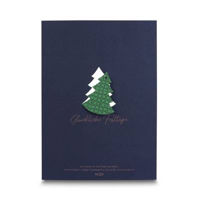 Weihnachtskarte mit Baum zum Herausbrechen