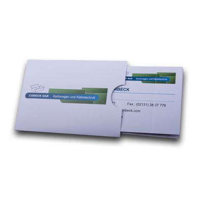 Einschubfach für Visitenkarte - Kreative Drucksachen - prägnant, wirksam, emotional
