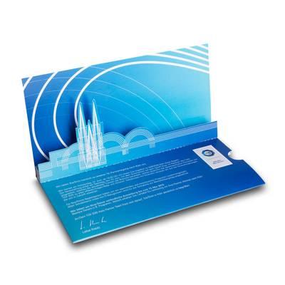 3D Pop-up Karte DIN lang mit einer Ebene und Einschubtasche - Lindner steht für Beratung - Kreation - Veredelung - Druck - Konfektionierung
