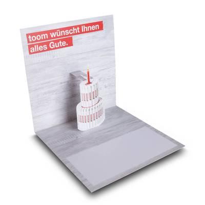 3D Pop-up Karte quadratisch - Kreative Drucksachen - prägnant, wirksam, emotional