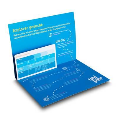 Zweidimensionale Klappkarte mit Pop-up - Lindner steht für Beratung - Kreation - Veredelung - Druck - Konfektionierung