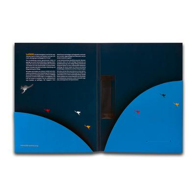 Mappe mit Konturstanzung - Kreative Drucksachen - prägnant, wirksam, emotional