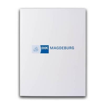 IHK Marburg Mappe mit blauen Aufdruck