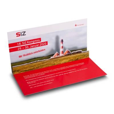 Pop-up Card DIN lang - Lindner steht für Beratung - Kreation - Veredelung - Druck - Konfektionierung