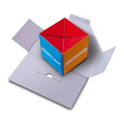 Mailing mit Spring-Würfel - Lindner steht für Beratung - Kreation - Veredelung - Druck - Konfektionierung