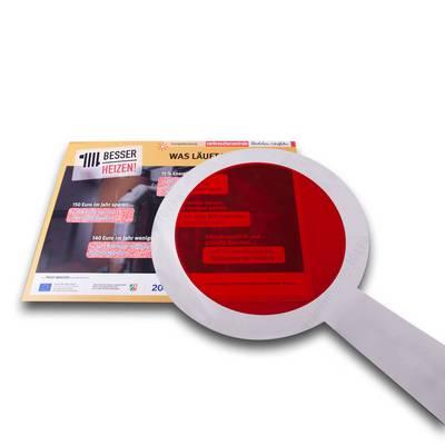 Fensterfolie - Lupe - Kreative Drucksachen - prägnant, wirksam, emotional