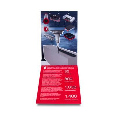 A6 Pop-up Karte - Lindner steht für Beratung - Kreation - Veredelung - Druck - Konfektionierung