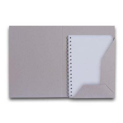 Sammelmappe A5 aus Graukarton - Kreative Drucksachen - prägnant, wirksam, emotional